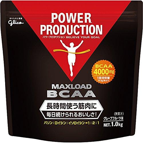 グリコ パワープロダクション マックスロード BCAA4000mg アミノ酸 グレープフルーツ風味 1kg【使用目安 約153回分】
