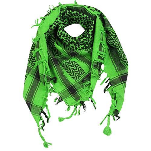 Superfreak Palituch - grün-hellgrün - schwarz - 100x100 cm - Pali Palästinenser Arafat Tuch - 100{1e397ba6feae195c40726ac1b7a137382e55a7548f1b9af74ef9ff2af0b78303} Baumwolle
