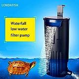 LONDAFISH Turtle Filter Water Submersible Filter for Turtle Tank/Aquarium 600L/H Filtration Low Water