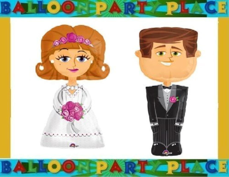 selección larga WEDDING party decorations BRIDE GROOM GROOM GROOM AIRWALKER life Talla dinner party BALLOONS by Lgp  70% de descuento