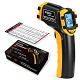 Kizen LaserPro LP220 Infrared Thermometer Non-Contact Digital Laser Temperature Gun with LCD Display -58℉~896℉(-50℃~480℃) Adjustable Emissivity (NOT for Humans)…