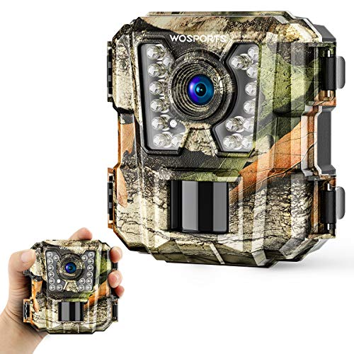 Wosports Mini Trail Camera 1080P HD Wildlife Scouting Hunting Camera with IR...
