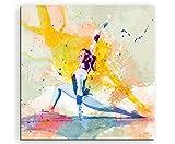 Turnen X 60x60cm Wandbild SPORTBILD Aquarell Art tolle
