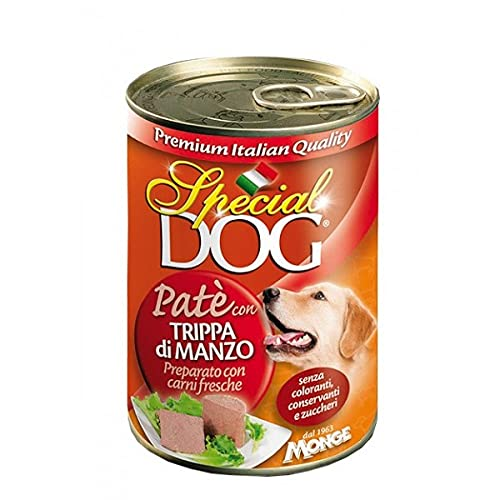 24 Lattine Special Dog Monge 400g Patè Gusti Vari con 80...
