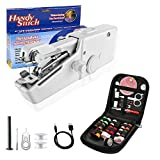 Mini Handheld Sewing Machine, Portable Sewing Machines Electric Sewing Machines for Beginners Adult Quick Handy Stitch clotheshome or Travel use (with Travel Portable Sewing kit)