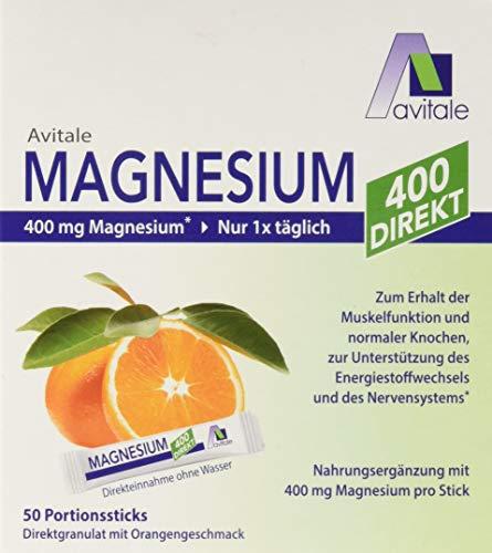 Avitale Magnesium 400 direkt Orange - Direktgranulat zur Einnahme ohne Wasser, 105 g
