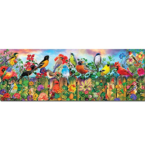 DIY 5D Diamond Painting by Number Kits,Crystal Rhinestone Diamond Embroidery Paintings Pictures Arts Craft for Home Wall Decor,Full Drill,Birds and Flowers-L9003-Round Drill,95x190cm(37.4 * 74.8inch)