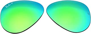 Ray-Ban Replacement Polarized Glass Lenses for RB3025 Aviator Flash Green 58mm