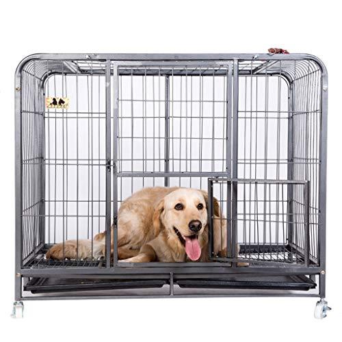 Gabbiette cucce Gabbia per Cani con Gabbia per Animali con Cane Grande Cane Adulto di Taglia Media Cane Grande Labrador Husky recinto Adatto per 15 kg 20 kg (Color : Black, Size : M)