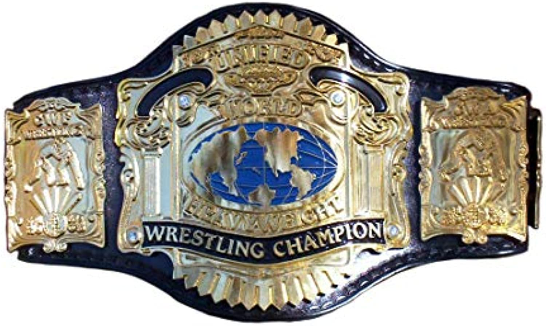 HaioSports Undisputed Heavyweight Championship Heavyweight Wrestling Title Replica Championship Belt  Brass Metal 4mm Plates