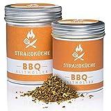 Strandküche Klitmøller mélange d'épices barbecue 30 g I Marinade épicée à griller avec coriandre marjolaine muscade paprika ail et plus I Mélange à griller grillade rub viande et légumes