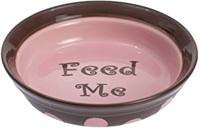 "Petrageous Designs Sassy 6"" Shallow Pet Bowl, Feed Me"