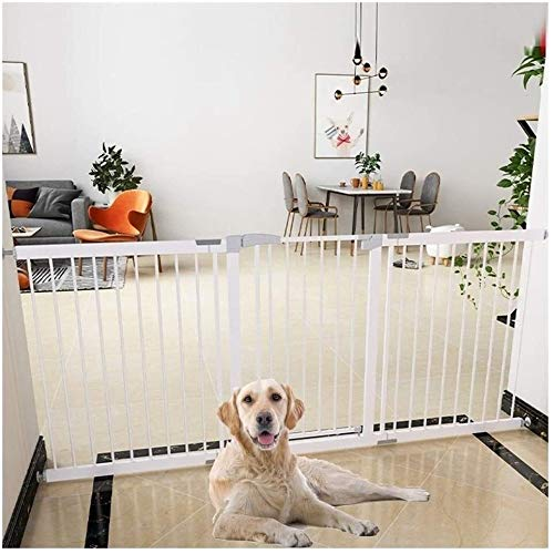 Lanrui Guardrail Garden Door Stairs Fence Pressure Fit Safety Metal Gate Stands 80cm tall The width can be selected from 75 to 200 Pet Gate baby gate with Extensions Available