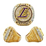 2020 Lakers Championship Ring 2020 Official Version Detachable Ring Replica Lebron LA Champions Ring with Wooden Box for Collection Fans Gift(Size 11)
