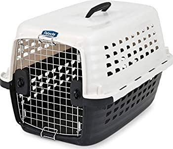 Petmate 41032 Compass Fashion Kennel Cat and Dog Kennel 10-20 lb Pearl White/Black