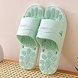 Anti Slip cubierta al aire libre Inicio Zapatillas, zapatillas, masaje baño antideslizantes par de sandalias y pantuflas, sandalias green_35-36 abiertas del dedo del pie de los hombres de fangkai77