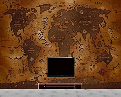 3D behang, vliesfotobehang, foto, landkaart, wereldkaart, nautisch papier, achtergrond, tv-decoratie voor thuis, wandachtergrond, 3D-muurfoto's 200*140 200*140