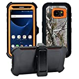 AlphaCell Cover Compatible with Samsung Galaxy S7 ONLY (Not Edge)   2-in-1 Screen Protector & Holster Case   Full Body Military Grade Protection with Carrying Belt Clip   Shock-Proof Protective