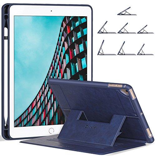 ZtotopCase Hülle for iPad 9,7 2018/2017/Air 2/Air,Stark magnetisch Schutzhülle mit Stifthalter,Soft Cover für 9.7 Zoll 5/6 Generation(A1893/A1954/A1822/A1823),Navy blau