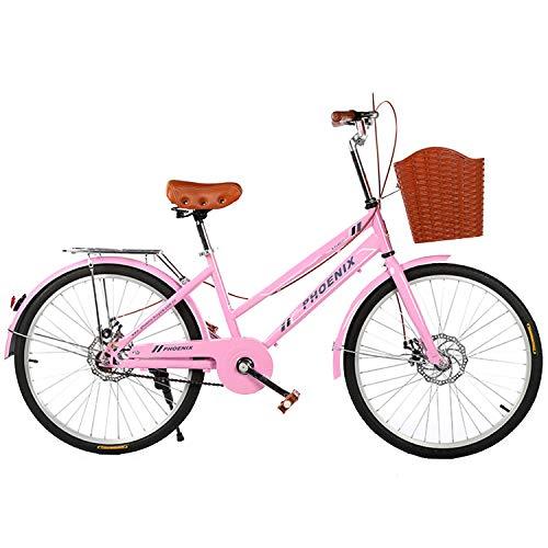 YI'HUI Bicicleta De 24 Pulgadas para Mujer