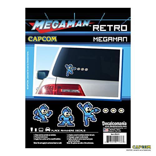 Megaman Retro Arcade 8-Bit Decals - Mega Man Sticker Vehicle Decal Sticker Laptop Decal - All Weather Proof Vinyl Stickers Licensed Capcom Decals