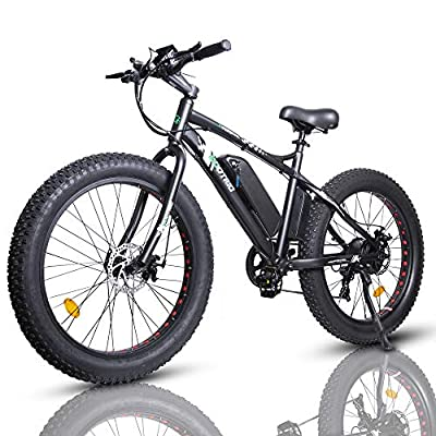 """ECOTRIC Electric Fat Tire Bike Powerful 26""""X4"""" Fat Tire 500W 36V/12AH Battery EBike Moped Snow Beach Mountain Bicycle Throttle & Pedal Assist Pre-Assembled"""