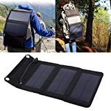 Cargador Solar, Panel Solar portátil 5V PVC Nylon y Panel Solar...