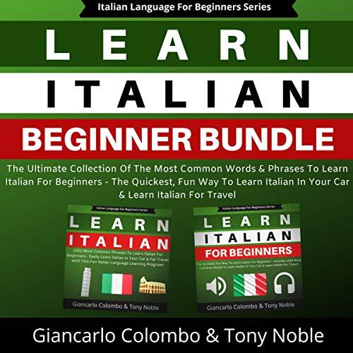 Page de couverture de Learn Italian Beginner Bundle