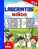 LABERINTOS Niños 5 años: Libro de 39 laberintos para niños