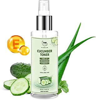 TNW-The Natural Wash Cucumber Toner for Clear and Toned Skin with Cucumber, Vitamin E, Peppermint and Aloe Vera Gel Extrac...