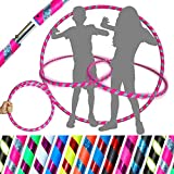 KID's HULA HOOPS - Quality Weighted Children's Hula Hoops! Great For Exercise, Dance, Fitness & FUN! NO Instructions needed! Same Day Dispatch.! (UV Pink/Silver Glitter)