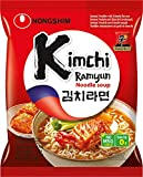 Nong Shim Instantnudeln Kimchi Ramyun – Koreanische Ramen Suppe - schnelle Zubereitung –