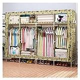 Armarios Portátiles Simple Modern Wardrobe Assembly Wardrobe Wardrobe Oxford Tela Madera Gabinete de almacenamiento de...