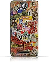 Lenovo A5000 TPU Silicone Case with Old Torn News Paper Grunge Textured Design