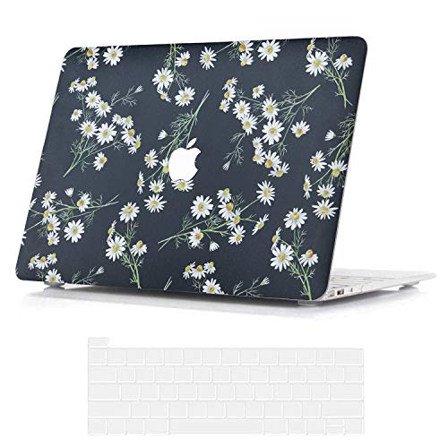 BELK Compatible with MacBook Pro 13 inch Case 2020 2019 2018 2017 2016 with Touch Bar A2338 M1 A2289 A2251 A2159 A1989 A1706 A1708, Slim Printing Pattern Hard Shell with Keyboard Cover, Daisy