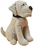 CasaJame - Fermaporta in tessuto a forma di piccolo cane, altezza: 23 cm, colore: Grigio