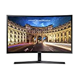 Samsung Monitor C27F396 Curvo da 27', Pannello VA, Full HD 1,920 x 1,080 pixel, 4 ms, Freesync, 1 HDMI port, 1 D-Sub port, Game Mode, Flicker Free, Eye Saver Mode, Nero, Versione 2021