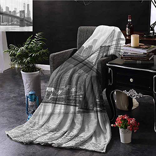 GGACEN bont gooien deken Overcast Levendige Paraplu's in Zonnige Dag Urban Life Home Decor Picture Art Print voor bed & bank Sofa Gemakkelijk Verzorging