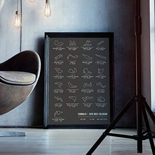 Pittura Della Decorazione Domestica Pittura Tela Stampa Poster Immagine Stampe Formula Grand Prix Art Map Calendar Poster Race Pittura Stampe Su Tela Picture Home Wall Art Decor Decorazione Murale