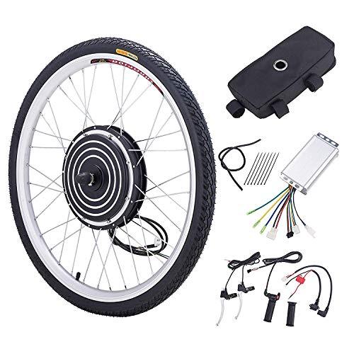 Sfeomi 36V 500W 26'' Kit di Conversione Bici Elettrica Controllo Mozzo Motore Hub E-Bike Ruota Bicicletta Regolatore di velocità (Ruota Anteriore)
