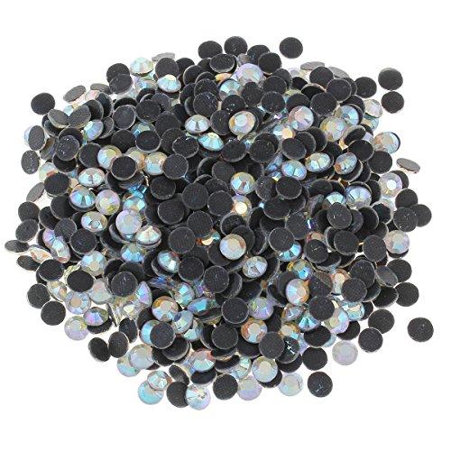 Perlin - Hotfix Strasssteine, 7200stk, Crystal AB, 3mm SS10 AAA Qualität, Kristall AB, zum Aufbügeln, Hotglue, Glitzersteine Rhinestone Glass Strass Perlen 403