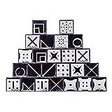 OVERWELL 24 piezas de rompecabezas de laberinto de laberinto, rompecabezas de laberinto, relleno de calendario de Adviento para niños y adultos