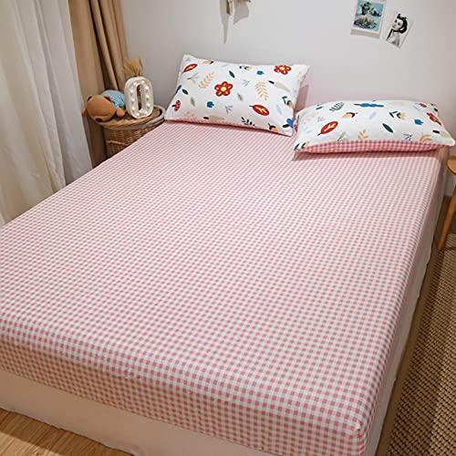 Lenzuolo sotto con angoli per letto queen size, in cotone, antiscivolo, per camera da letto, appartamento, 135 x 200 cm