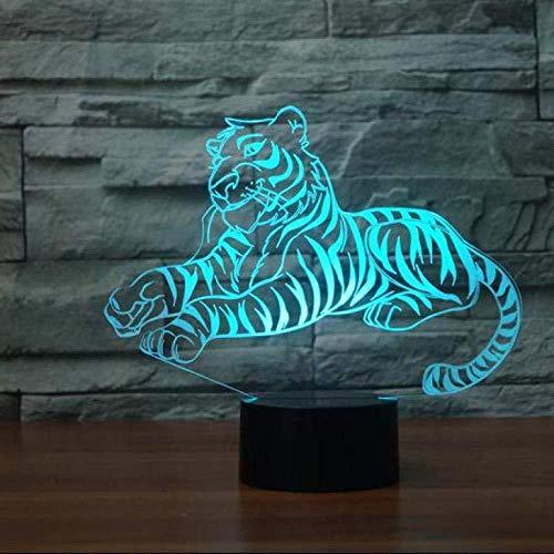 Luz de noche 3D 7 cambio de color interruptor táctil remoto Usb3D lámpara de escritorio luz visual para niños interruptor táctil LED