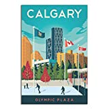 Canada-Vintage-Reiseposter, Calgary-Poster, Leinwand,