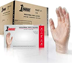 1st Choice Clear Vinyl Disposable Gloves, Case of 1000 - Industrial Grade, Latex-Free