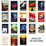 Doppelganger33 LTD NASA Poster Space X Exploration Travel AD Pack x 18 Posters Art Prints
