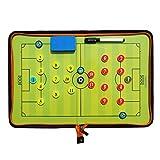 Fußball Taktiktafel Tragbar Trainer Taktikmappe Coachen Trainer-Mappe Fussball Coach-board mit Magneten, Boardmarker, Schwamm