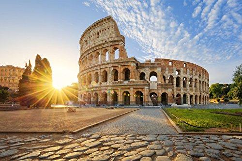 Rom Kolosseum Italien XXL Wandbild Kunstdruck Foto Poster P0521 Größe 90 cm x 60 cm, Größe 90 cm x 60 cm