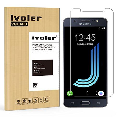 iVoler Vetro Temperato Compatibile con Samsung Galaxy J5 2016 [Garanzia a Vita], Pellicola Protettiva, Protezione per Schermo
